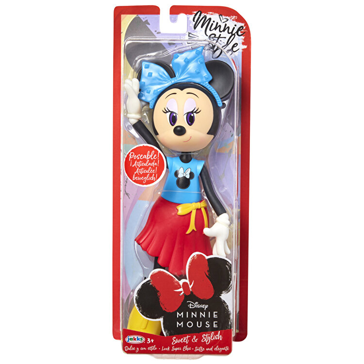 Papusa Minnie Mouse cu fundita albastră de la MINNIE MOUSE
