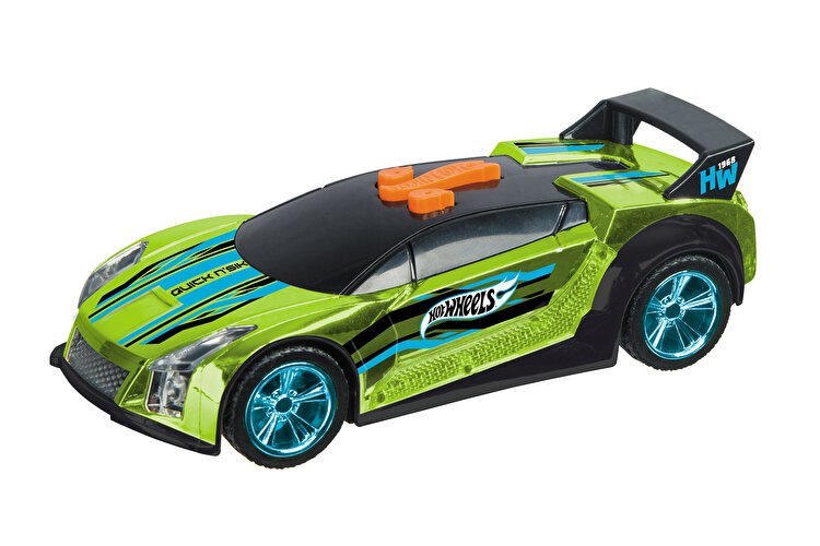 Masinuta cu lumini si sunete Hot Wheels, Quick N'Sik verde de la HOT WHEELS