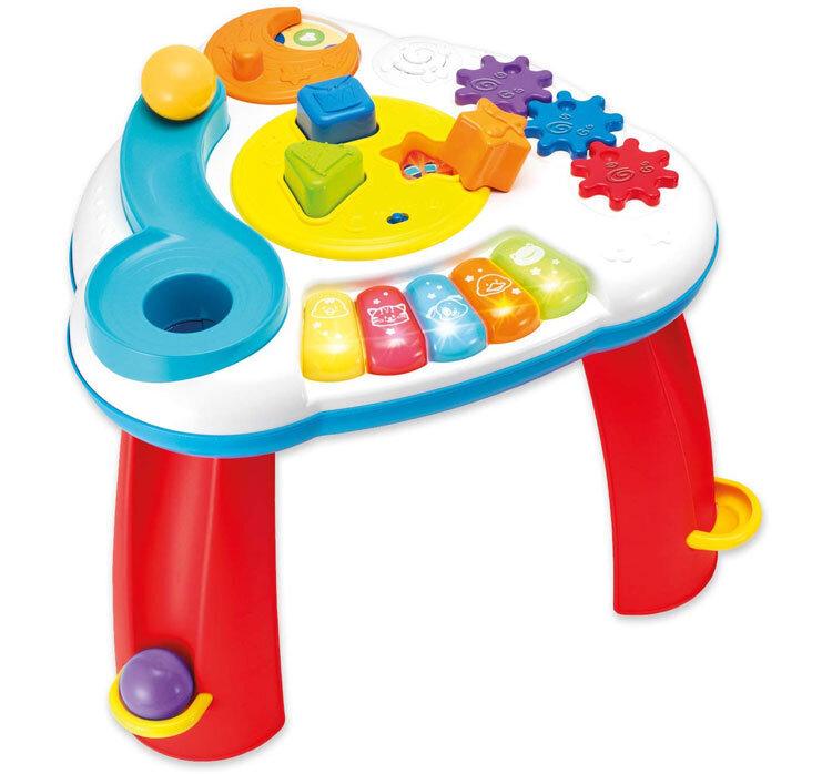 Masuta activitati cu bile Winfun pentru copii cu sunete si lumini si taste pian de la Winfun