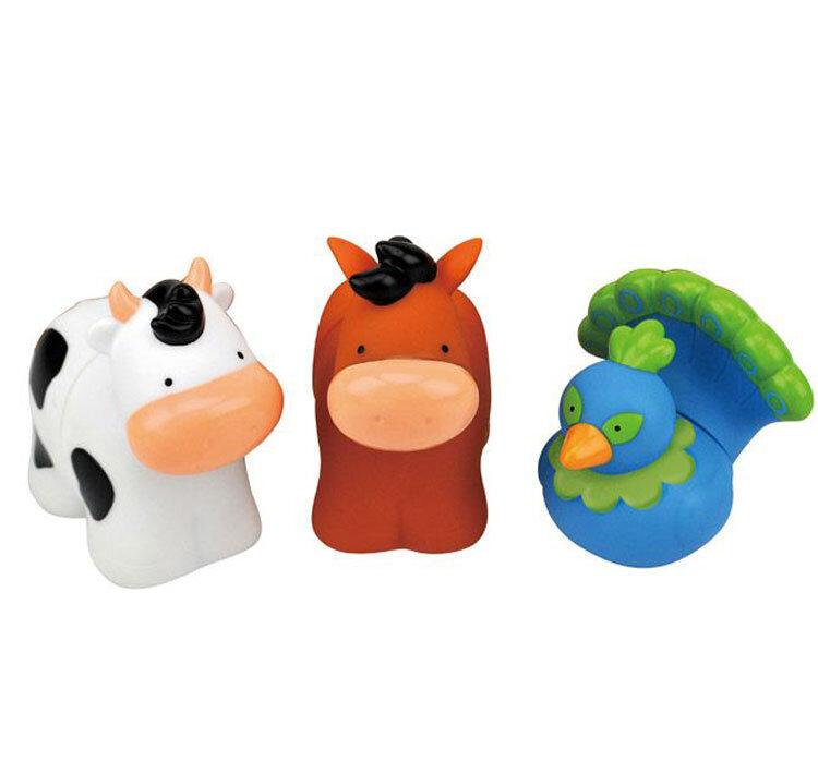 Set forme Popbo – Animale de la ferma – paun, vaca si cal de la K's Kids