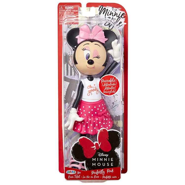 Papusa Minnie Mouse cu fundita roz de la MINNIE MOUSE