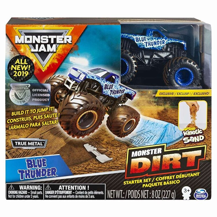 Monster Jam, set camioneta cu nisip blue thunder de la Monster Jam