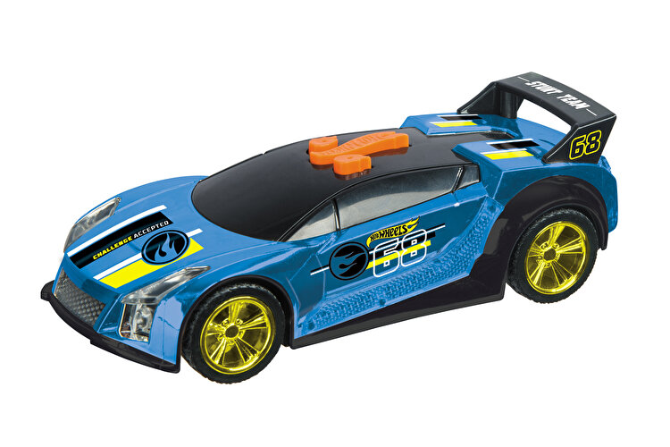 Masinuta cu lumini si sunete Hot Wheels, Quick N'Sik albastru de la HOT WHEELS