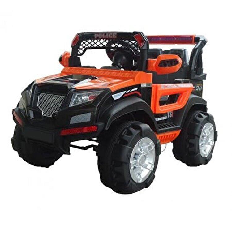 Masinuta electrica pentru copii, SUV electric cu telecomanda Police, portocaliu de la Saint Toys