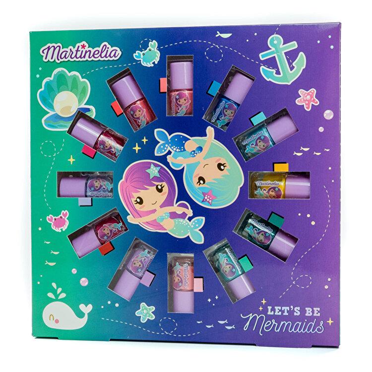 Set cadou 12 x lac pentru unghii colorat, Martinelia Mermaid de la MARTINELIA