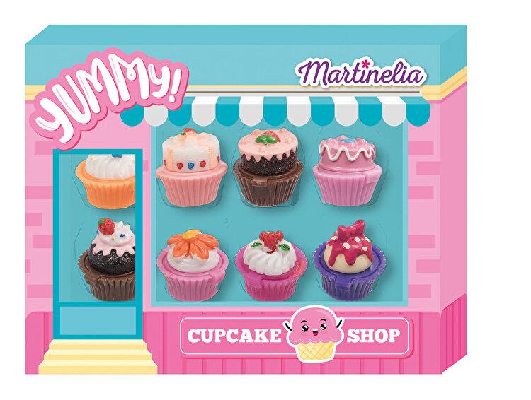 Set cadou 8 x balsam de buze Cupcakes, Martinelia Yummy de la MARTINELIA