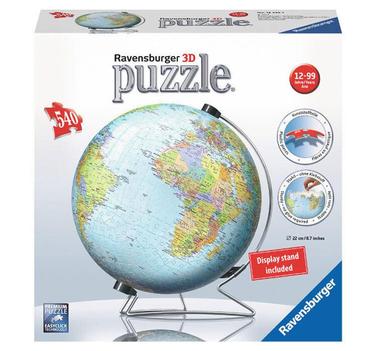 Puzzle 3D Pamantul, 540 piese de la Ravensburger