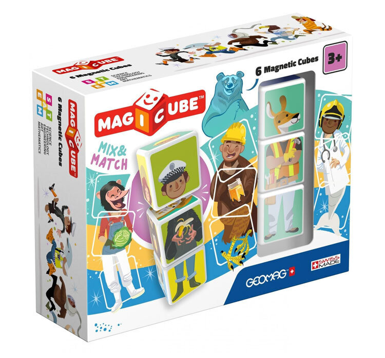 Magicube Mix & Match – Set magnetic, 6 piese de la Geomag