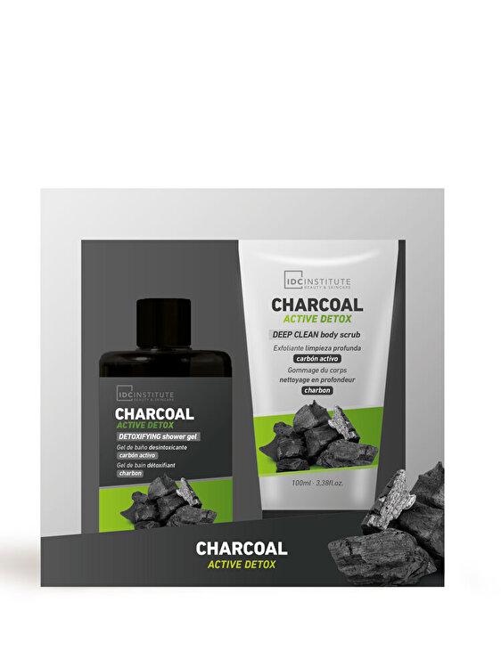 Set cadou Charcoal: Gel de dus, 120ml + Scrub pentru corp, 100ml