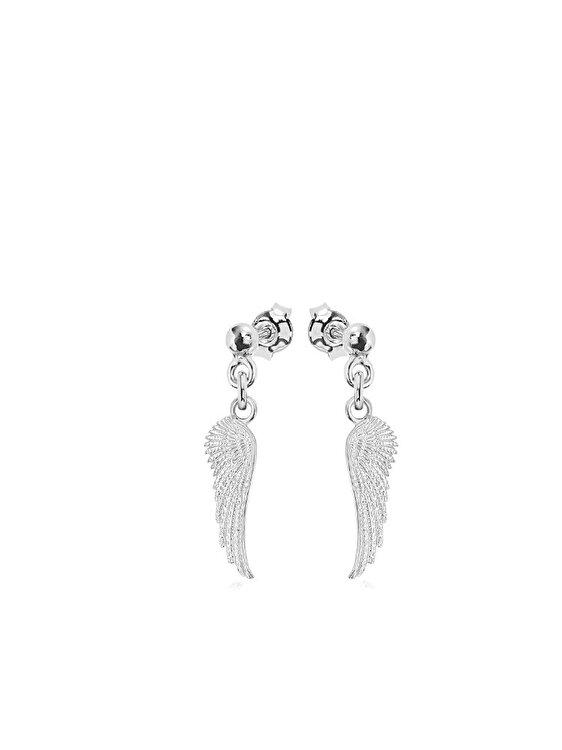 Cercei e-Crystal Argint 925 placat cu rodiu Wing Surub CWINGSB