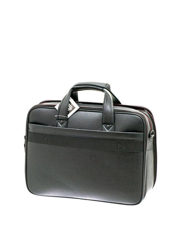 Geanta multifunctionala cu comp. laptop piele sintetica neagra Davidts Oran
