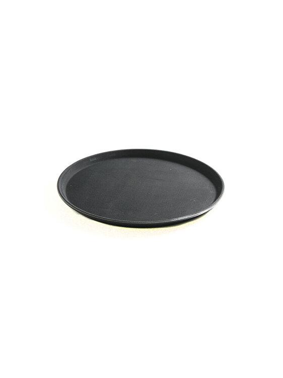 Tava servire rotunda , Hendi, suprafata cauciuc anti-alunecare, 36 cm, 878132, polipropilena, Negru