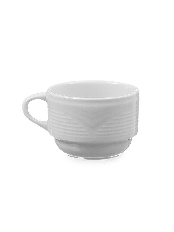 Ceasca pentru cafea, Hendi, SATURN, 794401, portelan, Alb