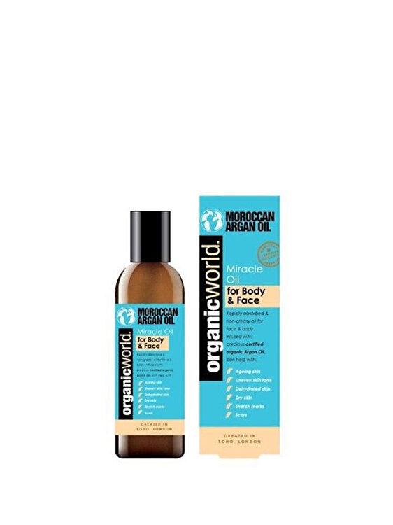Ulei cu extract argan pentru ten si corp Miracle Oil, 200 ml
