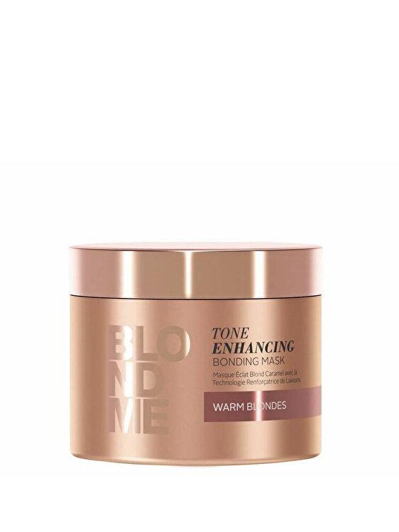 Tratament nuantator cu reflexii calde Schwarzkopf Blondme Tone Enhancing Bonding Mask Warm Blondes, 200ml