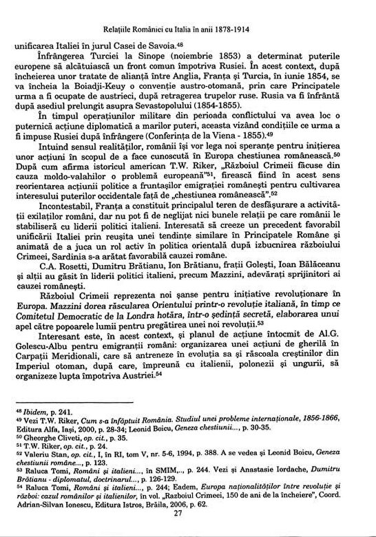 Laura Oncescu - Relatiile Romaniei cu Italia in anii 1878-1914 -