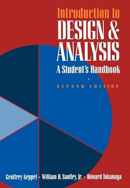 Geoffrey Keppel - Introduction to Design and Analysis: A Student's Handbook, Paperback -
