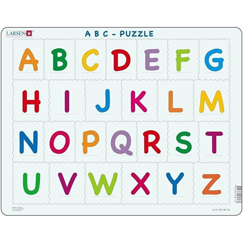 Larsen - Puzzle Alfabetul Limbii Engleze, 26 piese -