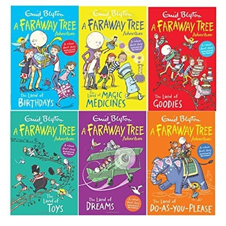 Enid Blyton - Enid Blyton Books The Magic Faraway Tree Collection 6 Books Colour Set -