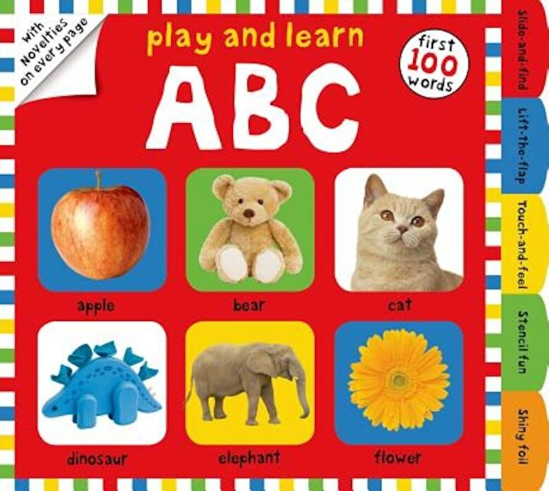 Roger Priddy - Play and Learn ABC: First 100 Words, with Novelties on Every Page, Hardcover -