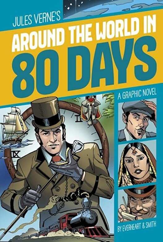 Jules Verne - Around the World in 80 Days, Paperback -