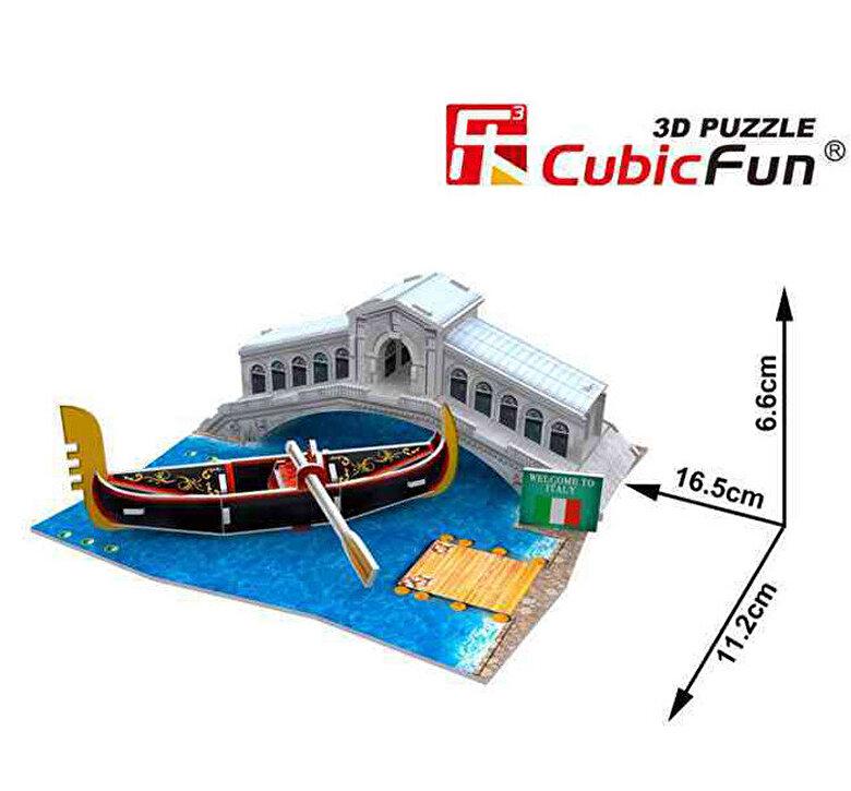 CubicFun - Puzzle 3D Podul Rialto, 29 piese -