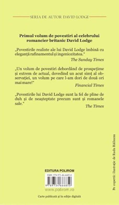 David Lodge - Barbatul care nu voia sa se dea jos din pat si alte povestiri -