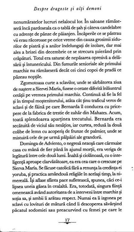 Gabriel Garcia Marquez - Despre dragoste si alti demoni -