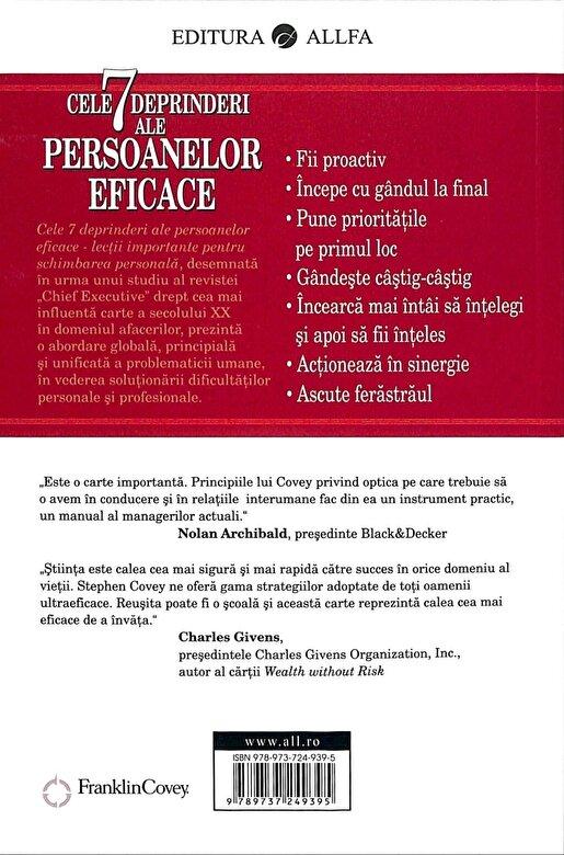 Stephen R. Covey - Cele 7 deprinderi ale persoanelor eficace. Lectii importante pentru schimbarea personala. Editia 2015 -