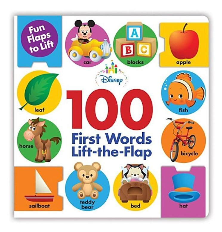 Disney Book Group - Disney Baby 100 First Words Lift-The-Flap, Hardcover -
