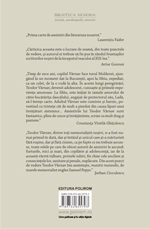 Teodor Varnav - Istoria vietii mele -
