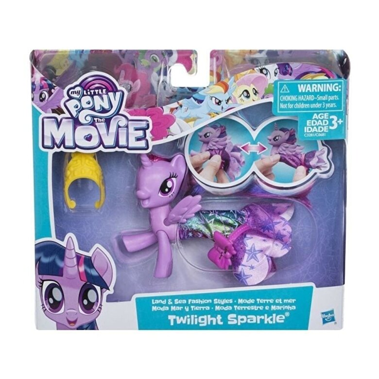 My Little Pony - My Little Pony Movie, Figurina ponei de mare cu rochita - Twilight Sparkle -