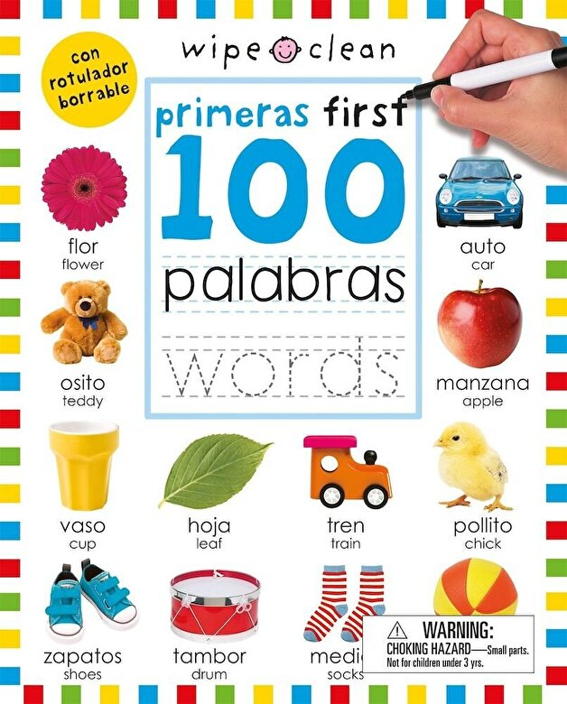 Roger Priddy - Wipe Clean: First 100 Words Bilingual, Paperback -