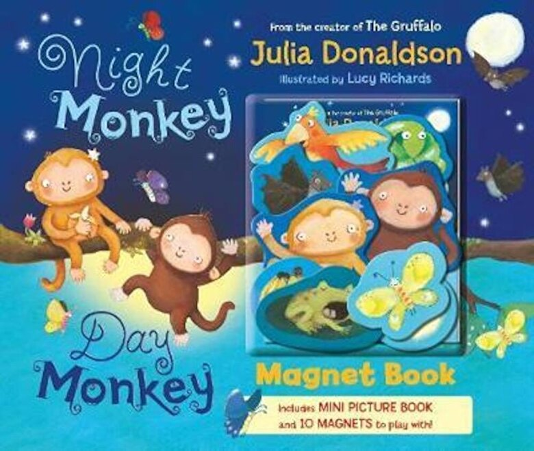 Julia Donaldson - Night Monkey Day Monkey (Magnet Book), Hardcover -