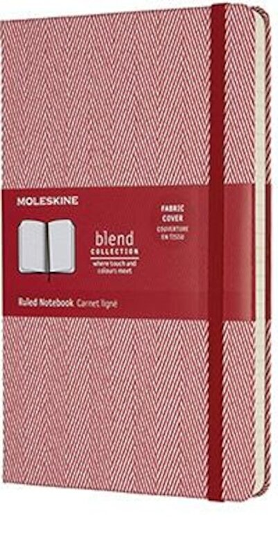 Moleskine - Moleskine Limited Edition Blend Collection Notebook, Large, Ruled, Red (5 X 8.25) -