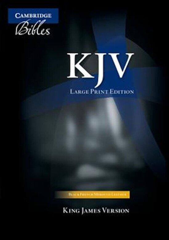 Cambridge University Press - Large Print Text Bible-KJV, Hardcover -