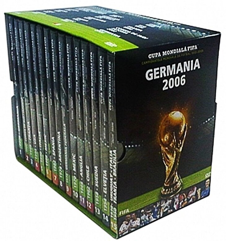 *** - Pachet - Cupa Mondiala FIFA. Campionatele Mondiale de fotbal (15 DVD) -