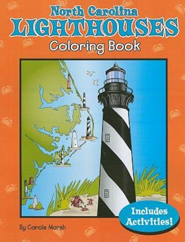 Carole Marsh - North Carolina Lighthouses Coloring Book, Paperback -