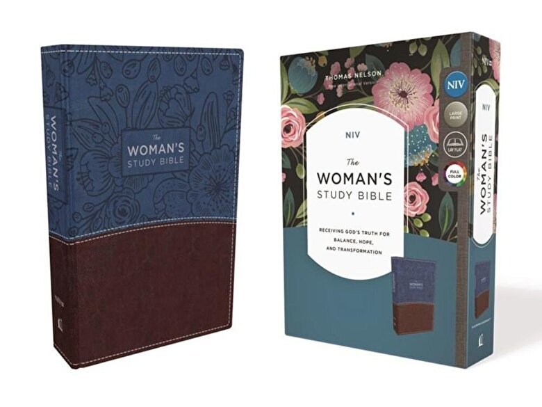 Dorothy Kelley Patterson - NIV, the Woman's Study Bible, Imitation Leather, Blue/Brown, Full-Color: Receiving God's Truth for Balance, Hope, and Transformation, Hardcover -