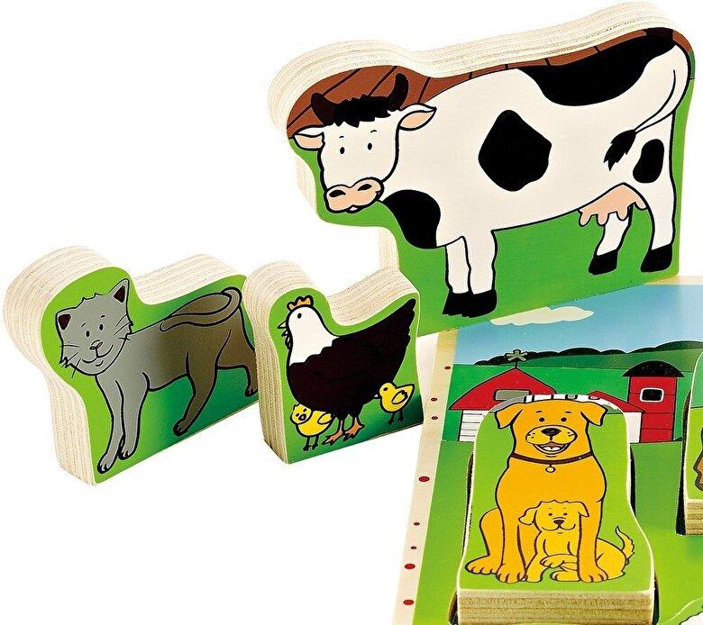 Hape - Puzzle Animale domestice -
