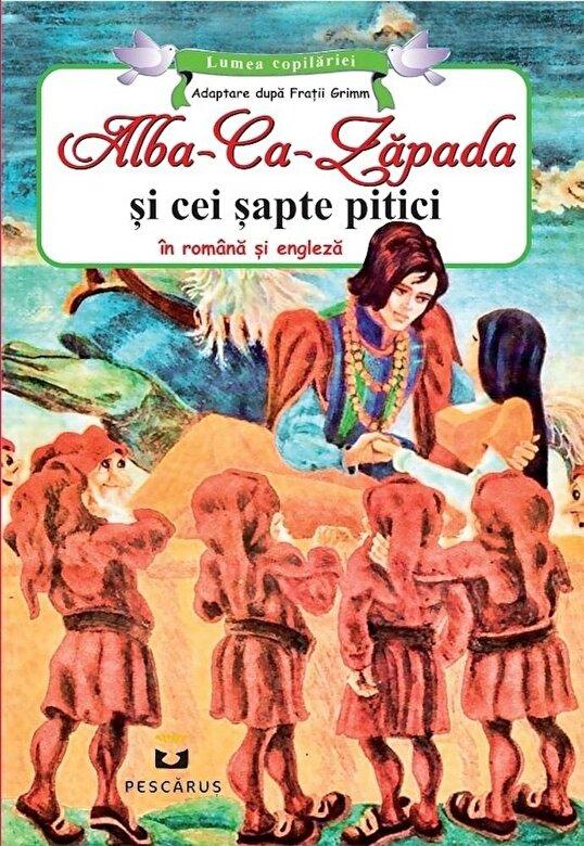 Fratii Grimm - Alba Ca Zapada si cei sapte pitici - in romana si engleza -