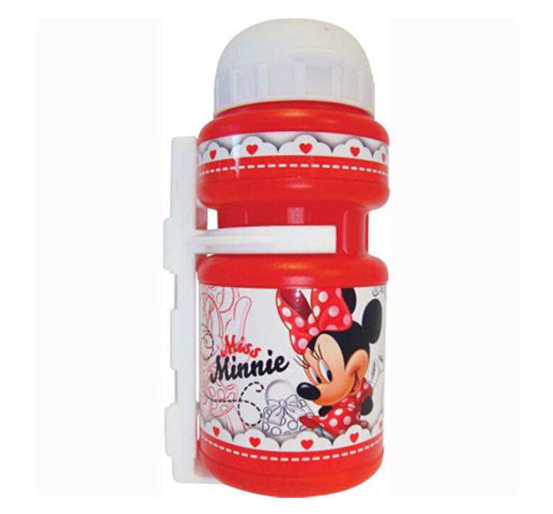 Disney Eurasia - Sticla apa pentru bicicleta, cu suport plastic inclus, Eurasia Minnie -