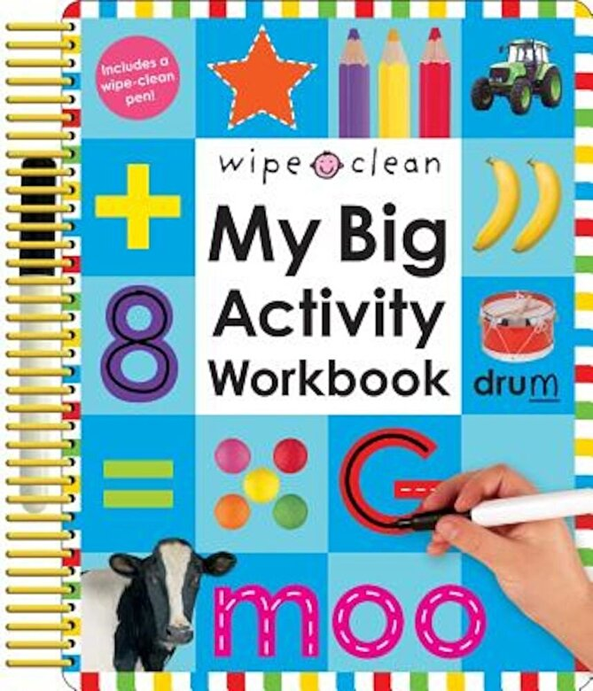 Roger Priddy - My Big Activity Work Book [With 2 Wipe-Clean Pens], Paperback -
