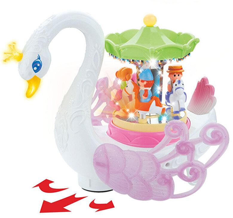 Hola Toys - Jucarie lebada cu carusel muzical Hola Toys -