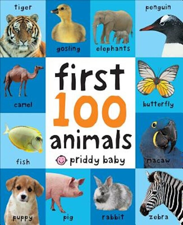 Roger Priddy - First 100 Animals, Hardcover -