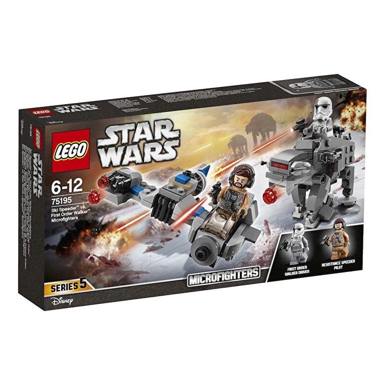 LEGO - LEGO Star Wars, Ski Speeder contra Walker al Ordinului Intai Microfighters 75195 -