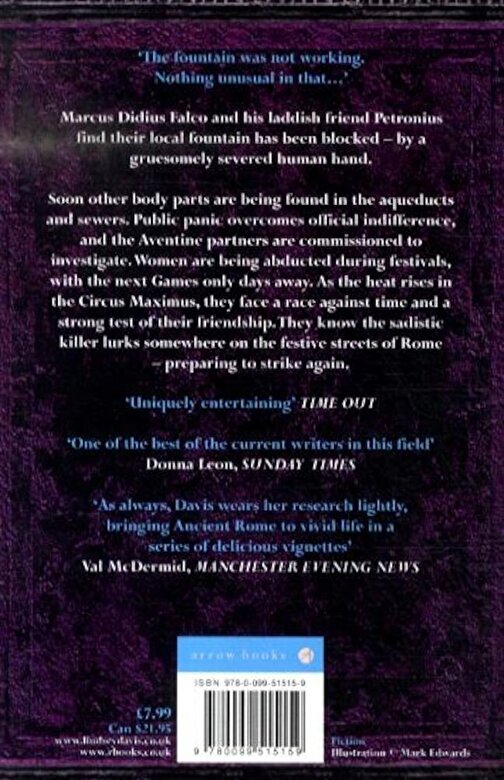 Lindsey Davis - Three Hands In The Fountain, Paperback -