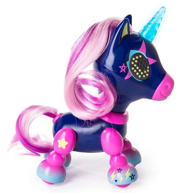 Spin Master - Jucarie interactiva Zoomer Zupps Unicorn cu lumini si sunete - Midnight -