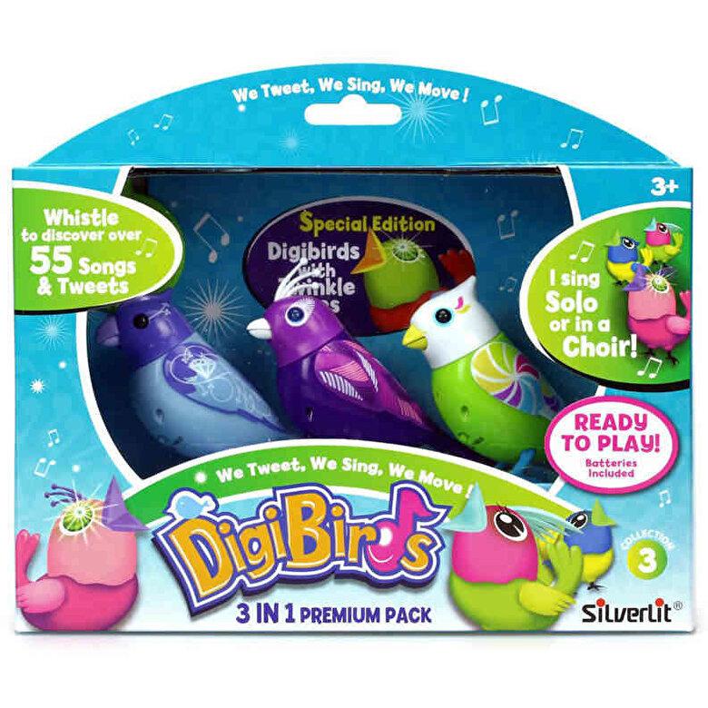 Silverlit - DigiBirds - Set trei pasari interactive -