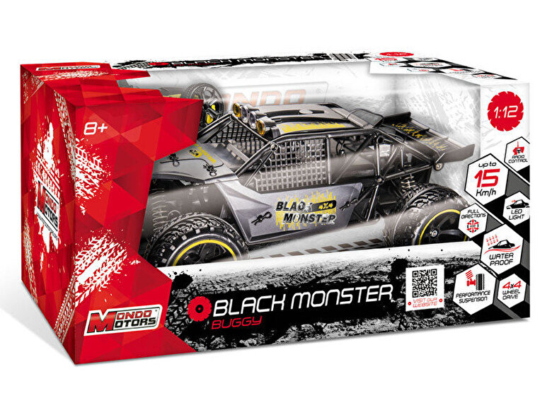 Mondo Motors - Masina cu telecomanda Black Monster 1:12 -